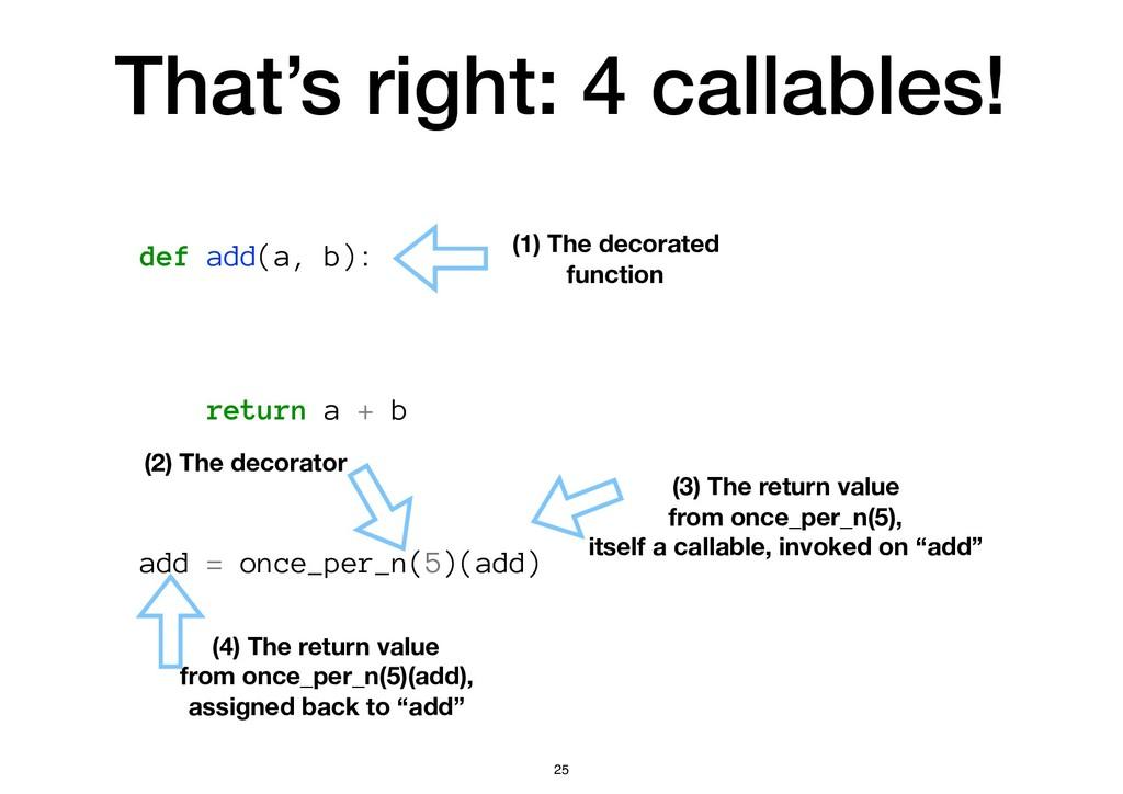 That's right: 4 callables! def add(a, b): retur...