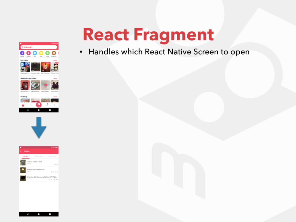React Fragment • Handles which React Native Scr...