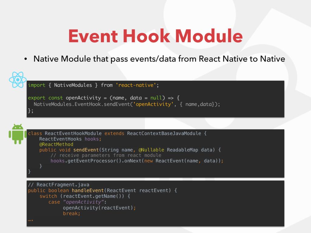 class ReactEventHookModule extends ReactContext...