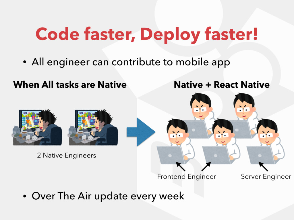 Code faster, Deploy faster! • All engineer can ...