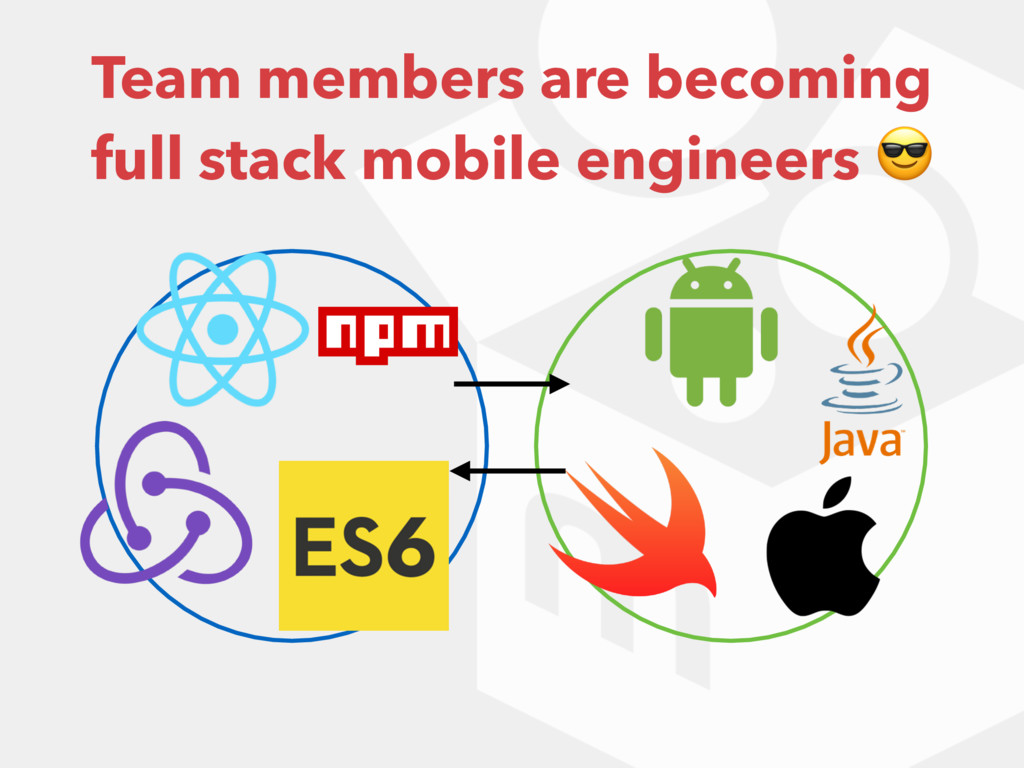 Team members are becoming full stack mobile eng...