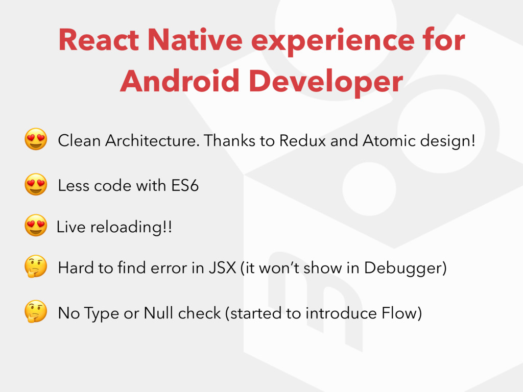 React Native experience for Android Developer  ...