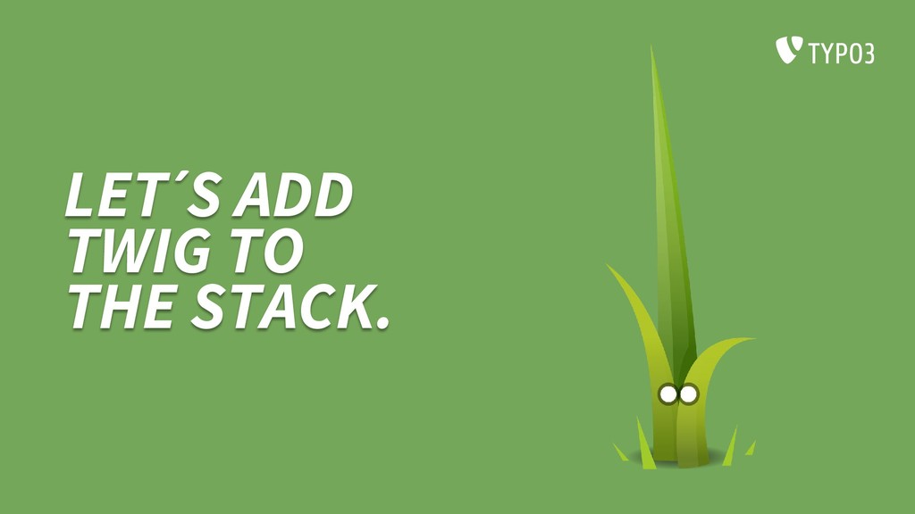 LET´S ADD TWIG TO THE STACK.