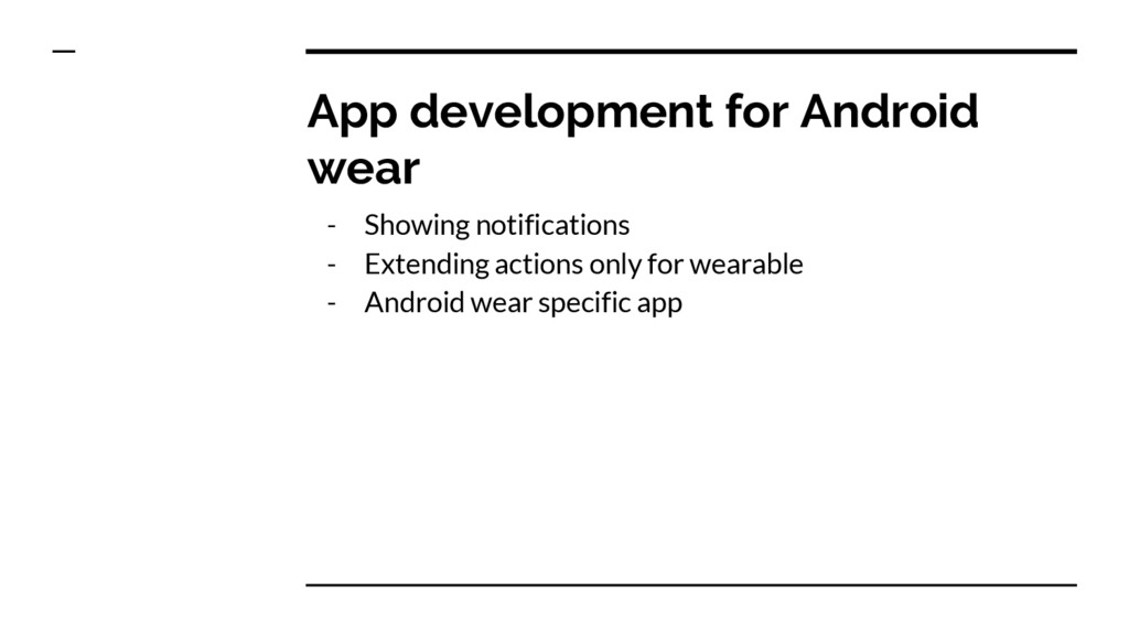 App development for Android wear - Showing noti...