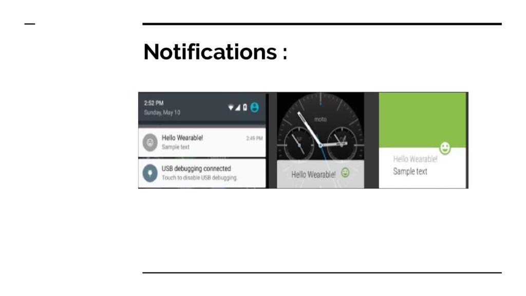 Notifications :