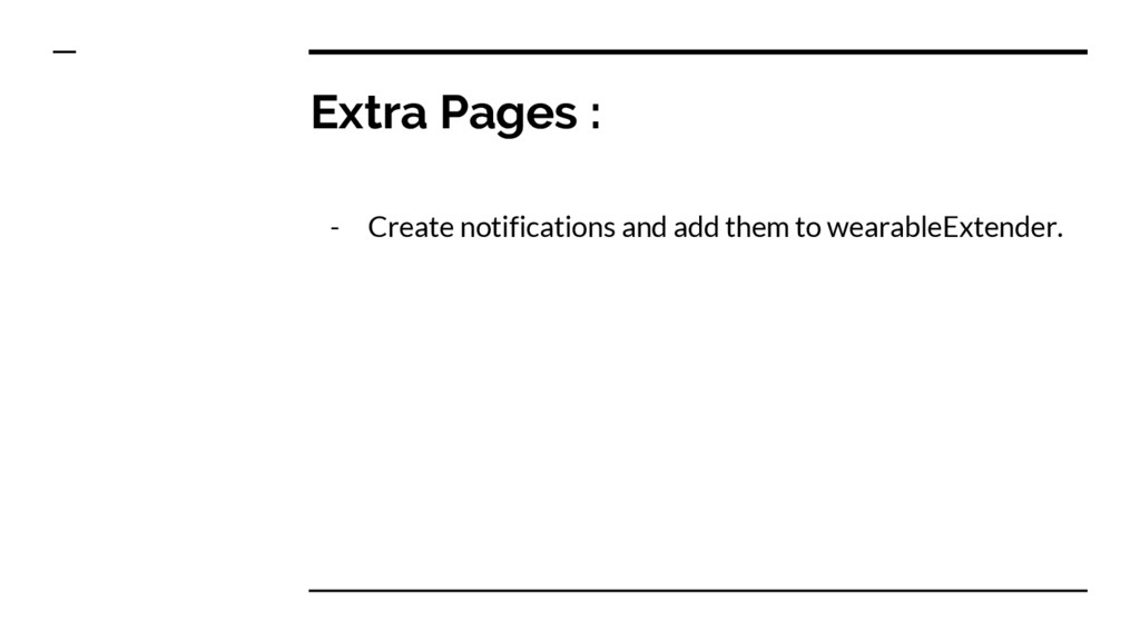 Extra Pages : - Create notifications and add th...