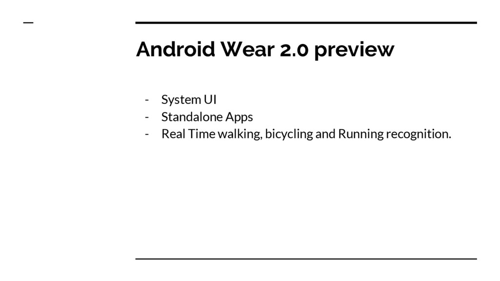Android Wear 2.0 preview - System UI - Standalo...