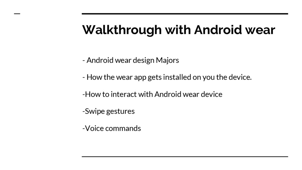Walkthrough with Android wear - Android wear de...