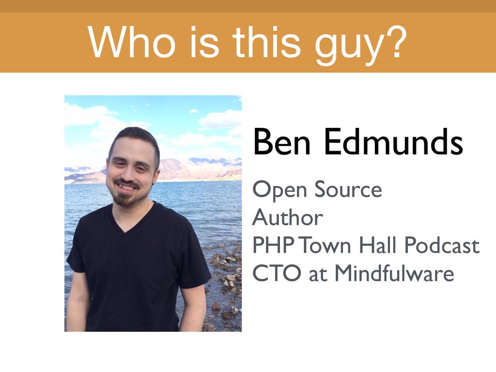 Title Title Ben Edmunds Open Source Author PHP ...