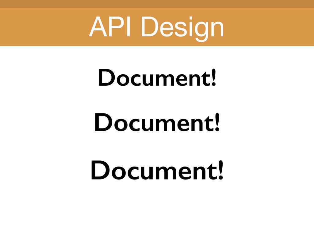 Title Title Document! Document! Document! API D...