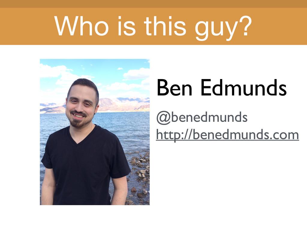Title Title Ben Edmunds @benedmunds http://bene...