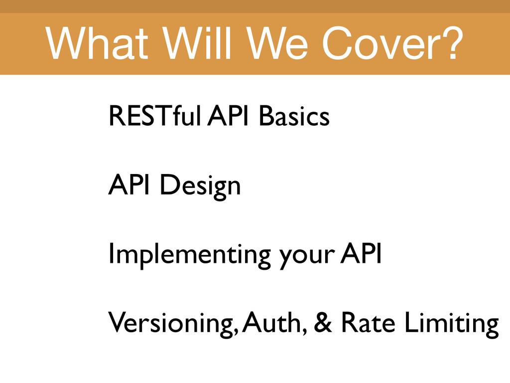 Title Title RESTful API Basics API Design Imple...