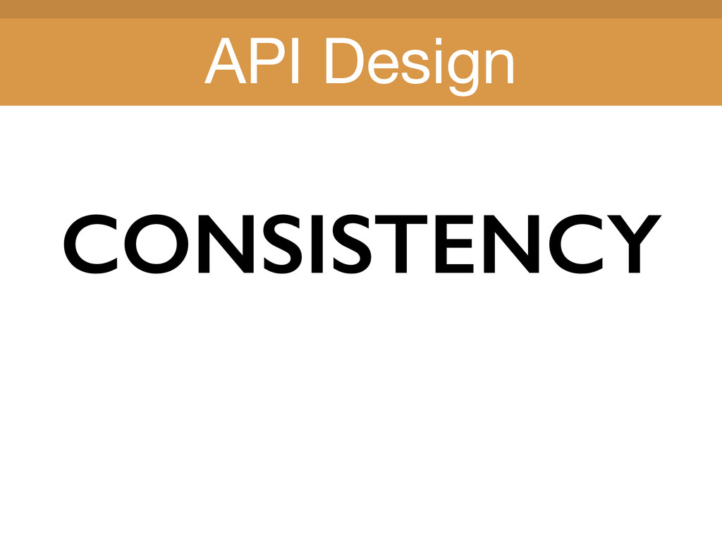 Title Title CONSISTENCY API Design