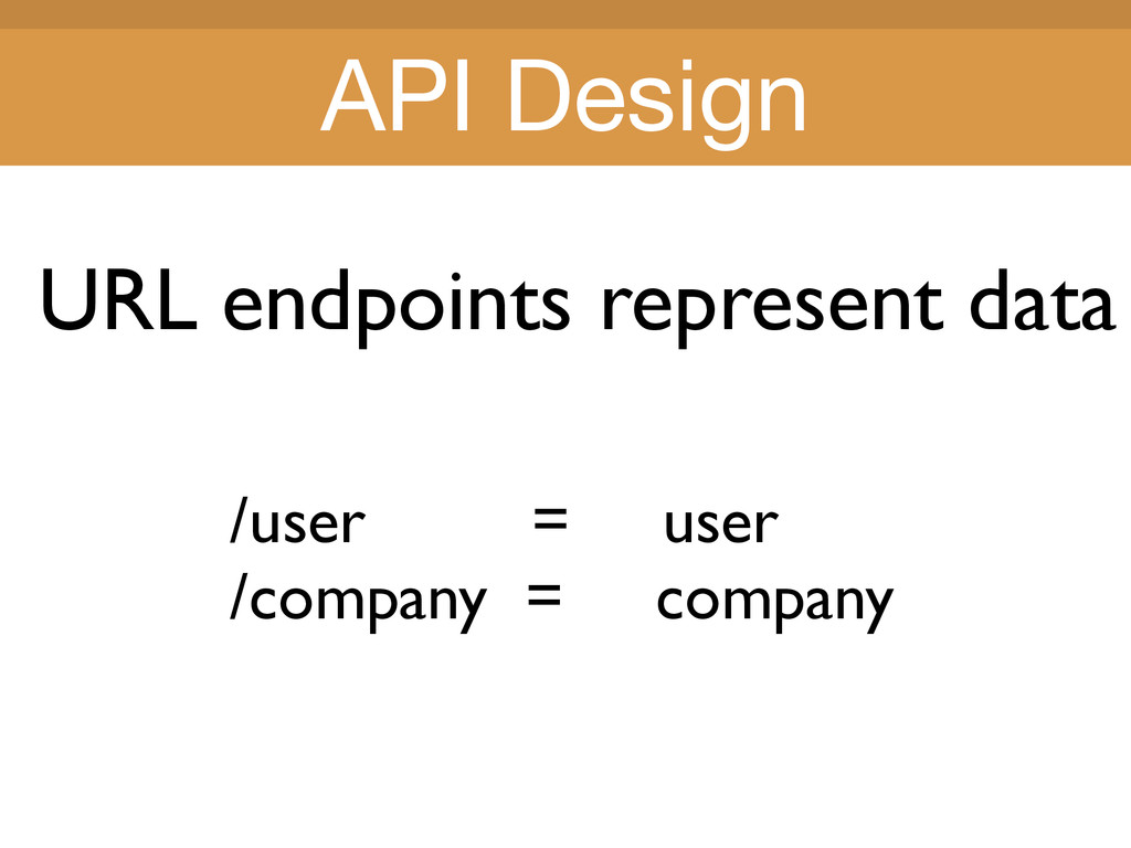 Title Title URL endpoints represent data /user ...