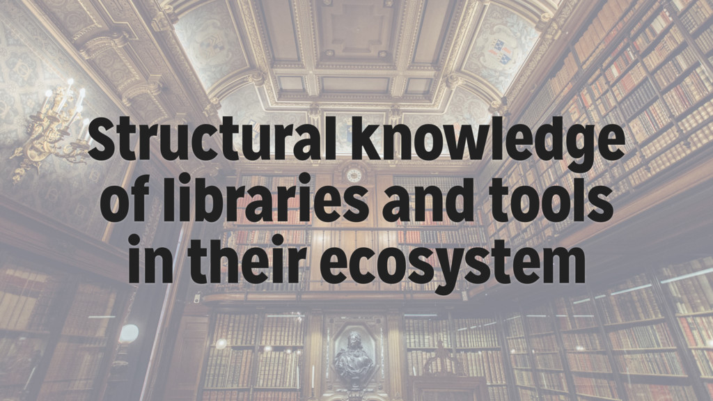 Structural knowledge of libraries and tools in ...