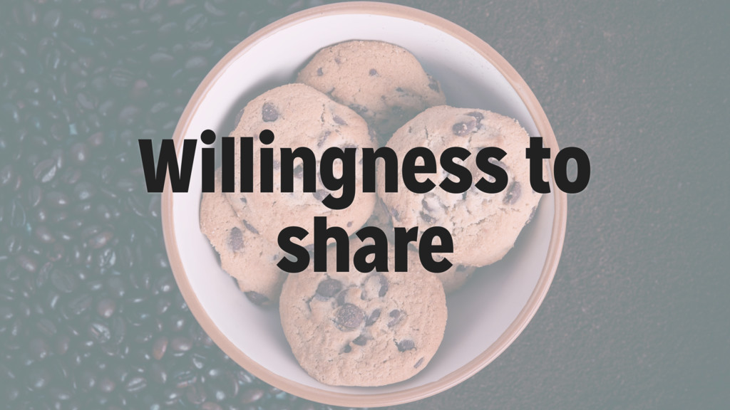 Willingness to share