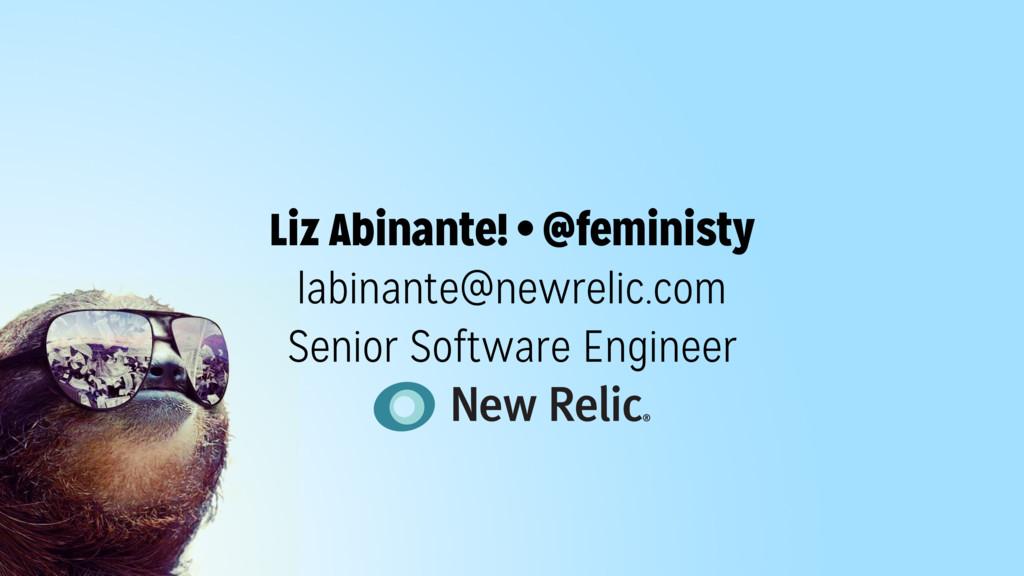 SELF.CONF Liz Abinante! • @feministy labinante@...