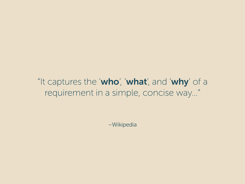 """–Wikipedia """"It captures the 'who', 'what', and ..."""