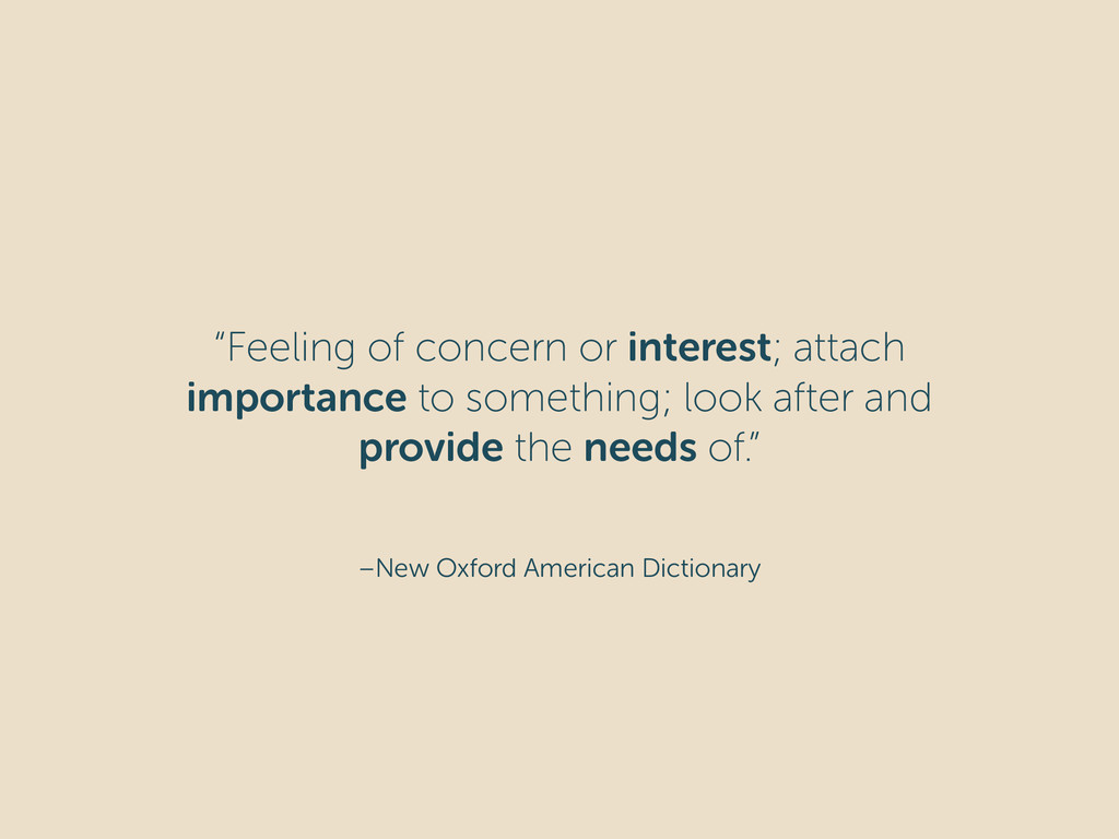 """–New Oxford American Dictionary """"Feeling of con..."""