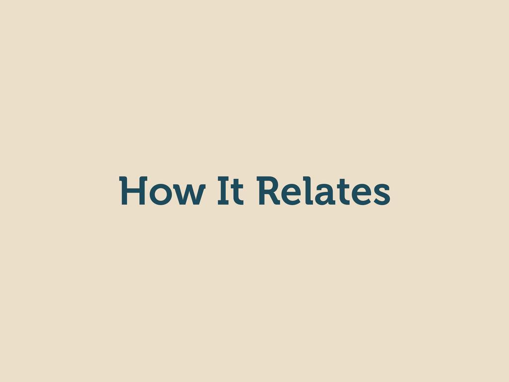 How It Relates