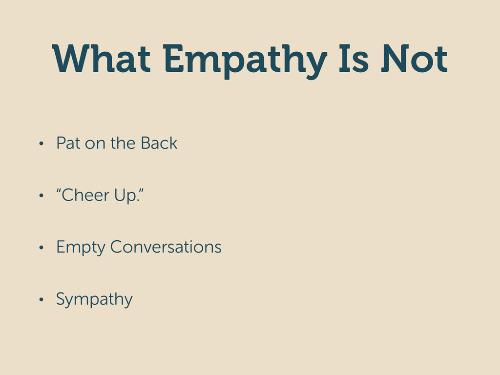 """What Empathy Is Not • Pat on the Back • """"Cheer ..."""