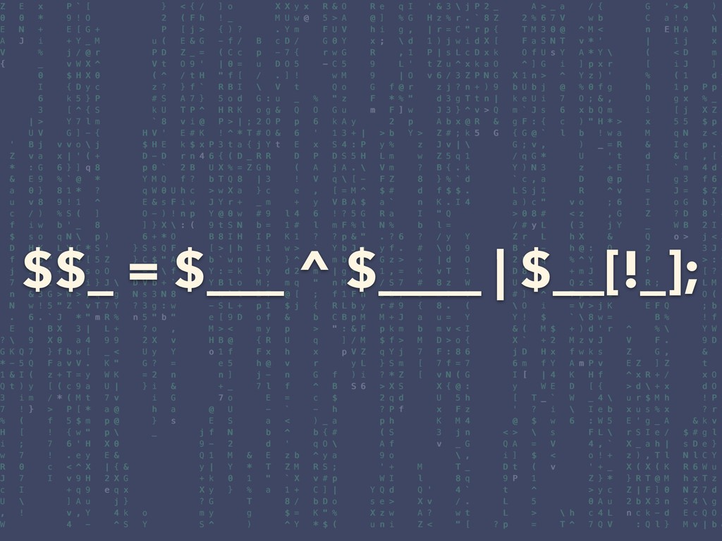 $$_ = $___ ^ $____ | $__[!_];