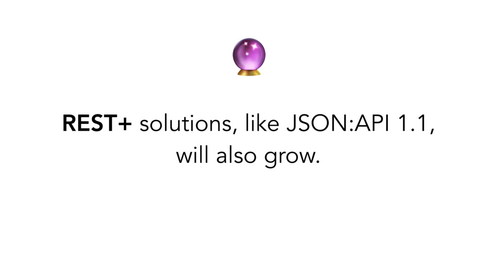 REST+ solutions, like JSON:API 1.1, will also ...