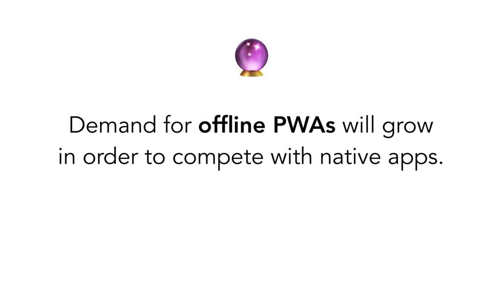 Demand for offline PWAs will grow in order to c...
