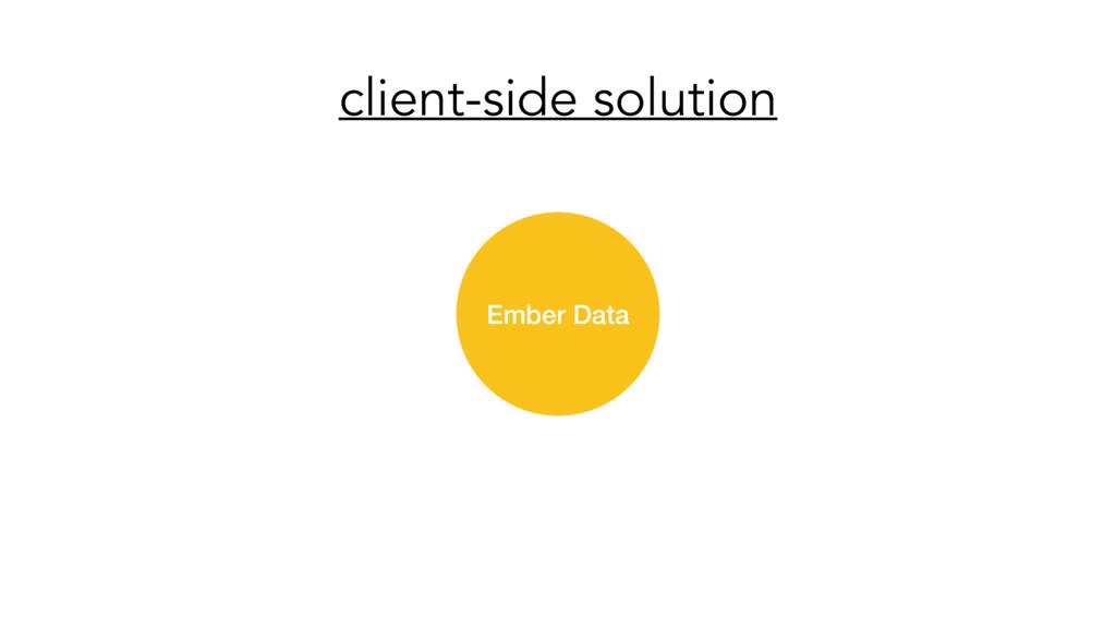 client-side solution Ember Data
