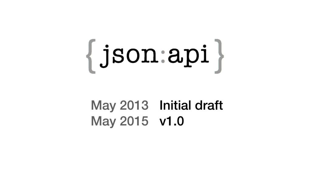 May 2013 Initial draft May 2015 v1.0
