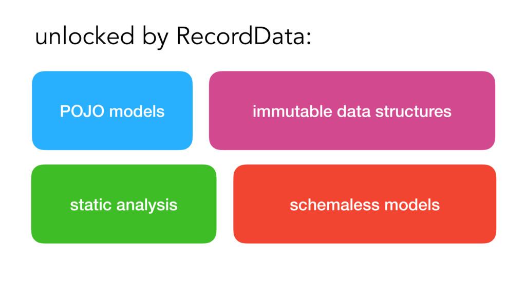unlocked by RecordData: POJO models schemaless ...