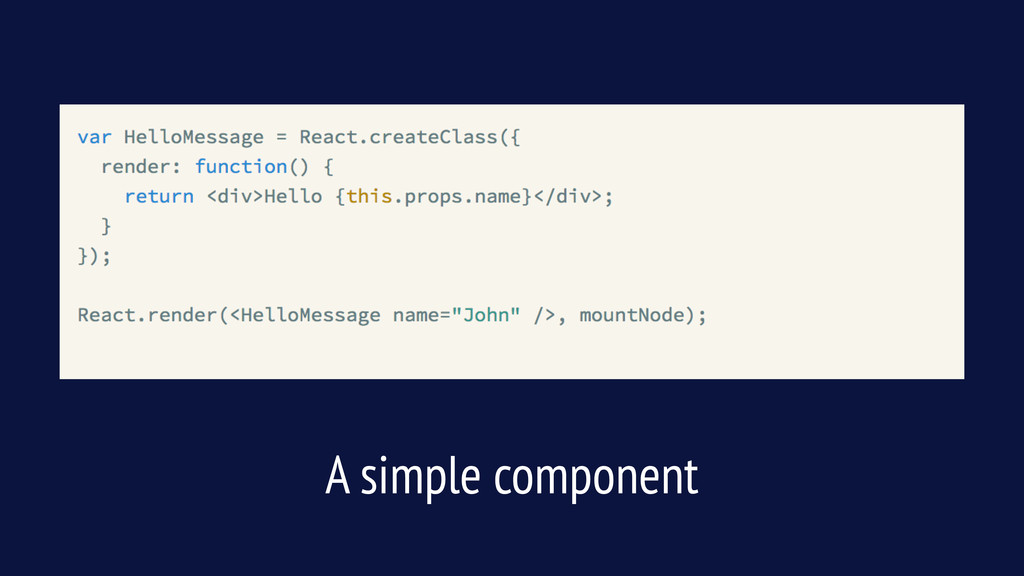 A simple component