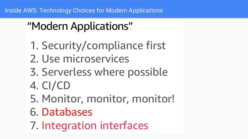 Inside AWS: Technology Choices for Modern Appli...