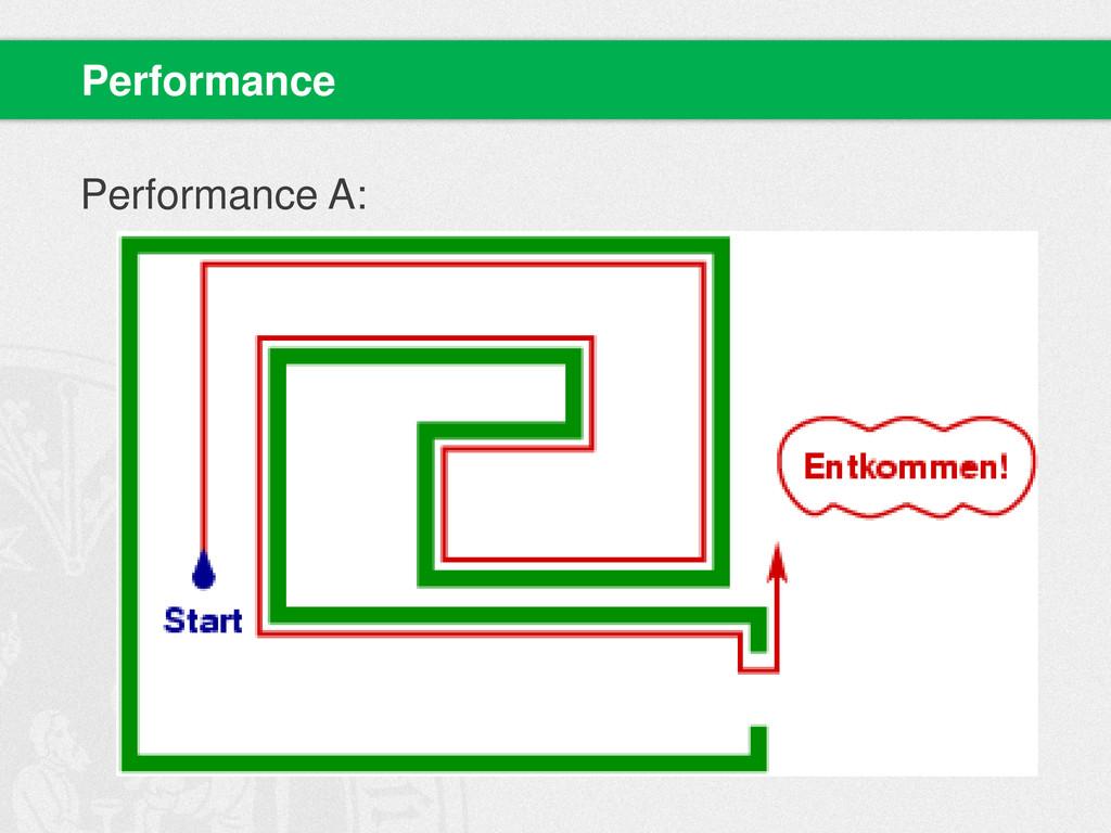 Performance A: Performance