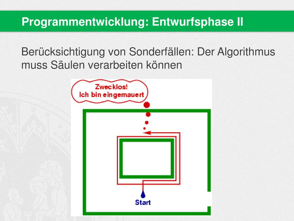 Berücksichtigung von Sonderfällen: Der Algorith...