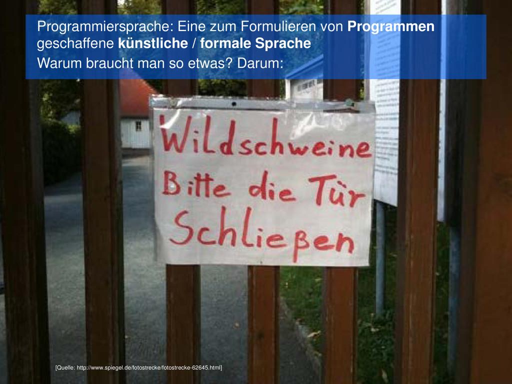 Programmiersprachen [Quelle: http://www.spiegel...