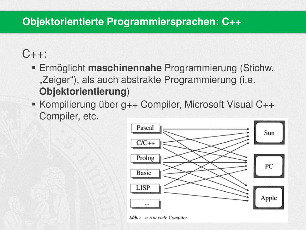 C++:  Ermöglicht maschinennahe Programmierung ...