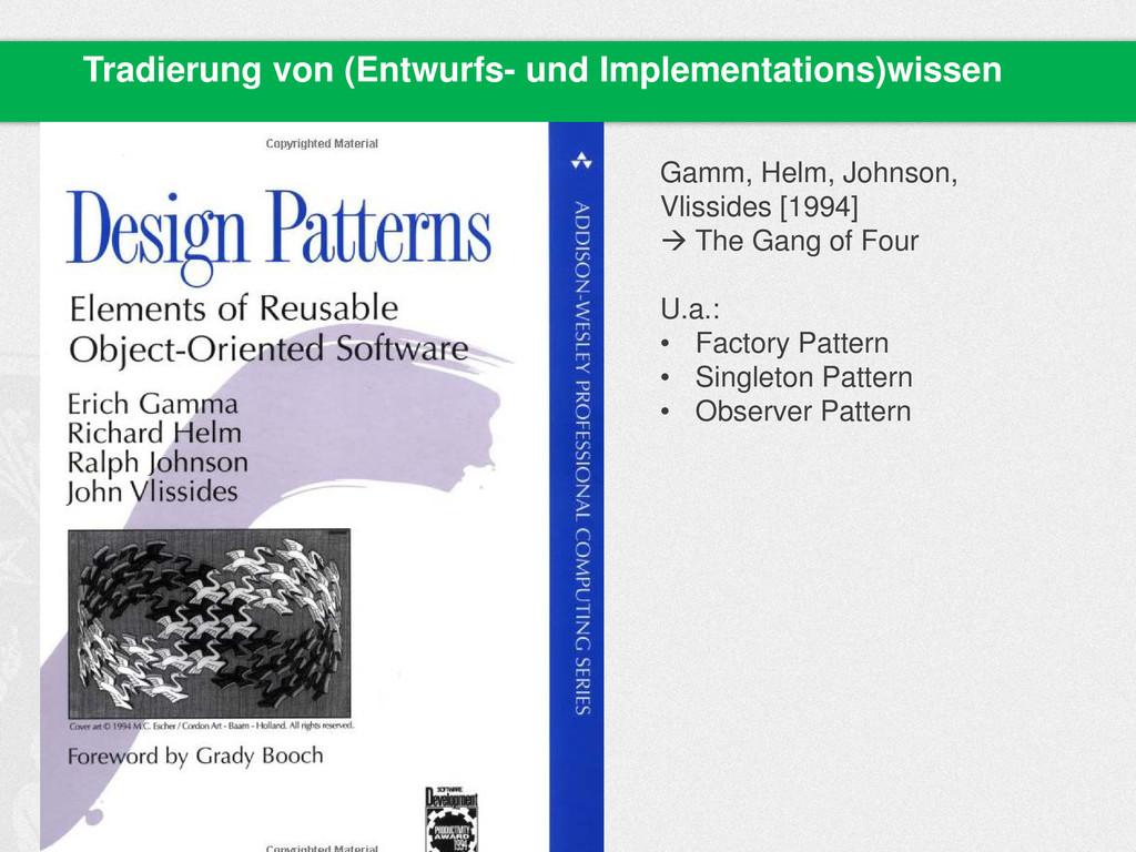Tradierung von (Entwurfs- und Implementations)w...