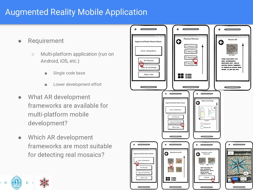 Augmented Reality Mobile Application ● Requirem...