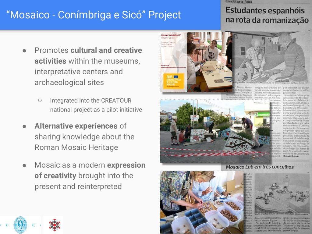 """Mosaico - Conímbriga e Sicó"" Project ● Promote..."