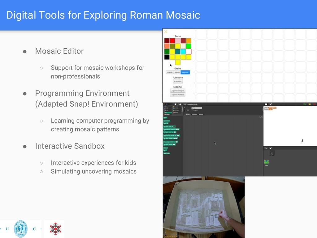 Digital Tools for Exploring Roman Mosaic ● Mosa...