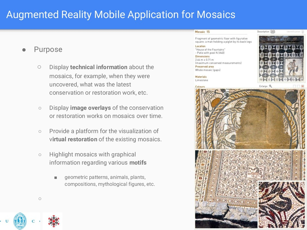 Augmented Reality Mobile Application for Mosaic...