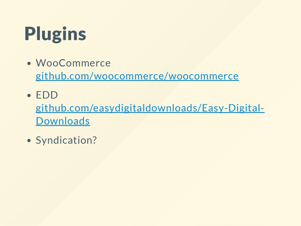 Plugins WooCommerce github.com/woocommerce/wooc...