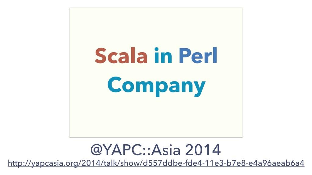 @YAPC::Asia 2014 http://yapcasia.org/2014/talk/...