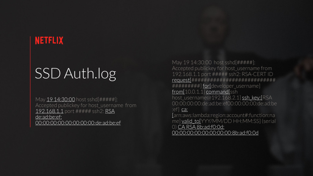 SSD Auth.log May 19 14:30:00 host sshd[#####]: ...