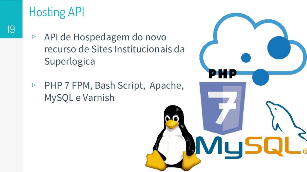 Hosting API ▹ API de Hospedagem do novo recurso...