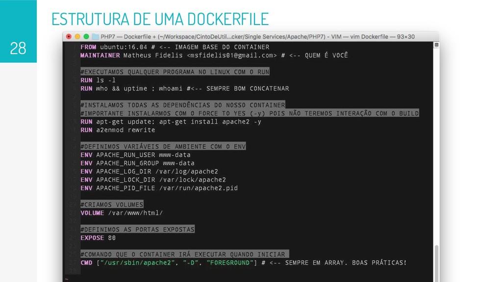ESTRUTURA DE UMA DOCKERFILE 28