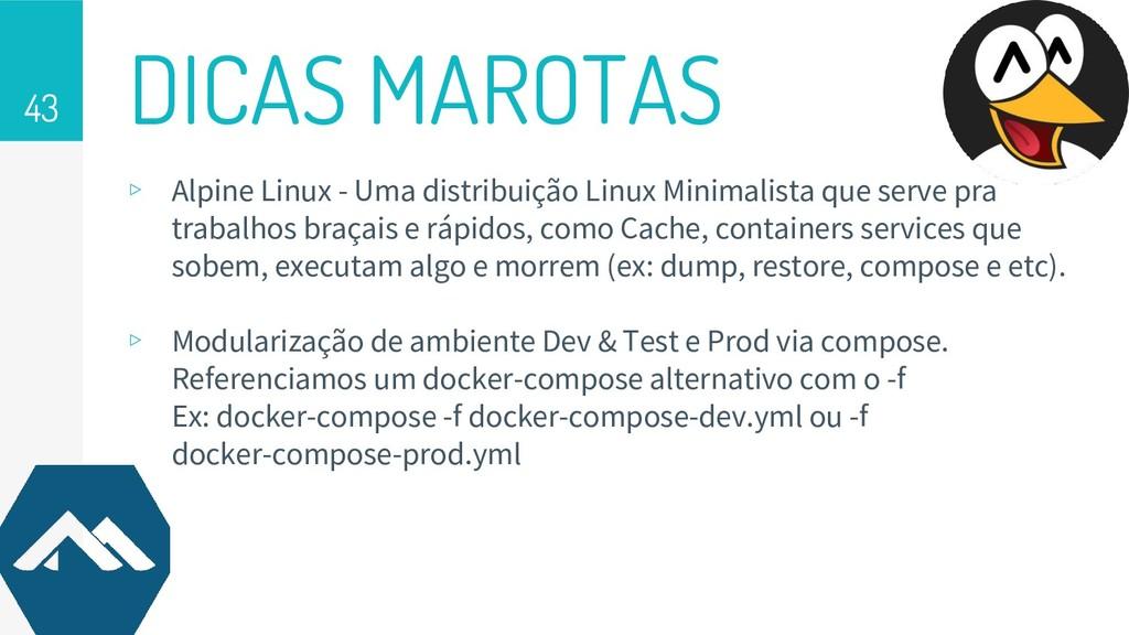 DICAS MAROTAS 43 ▹ Alpine Linux - Uma distribui...