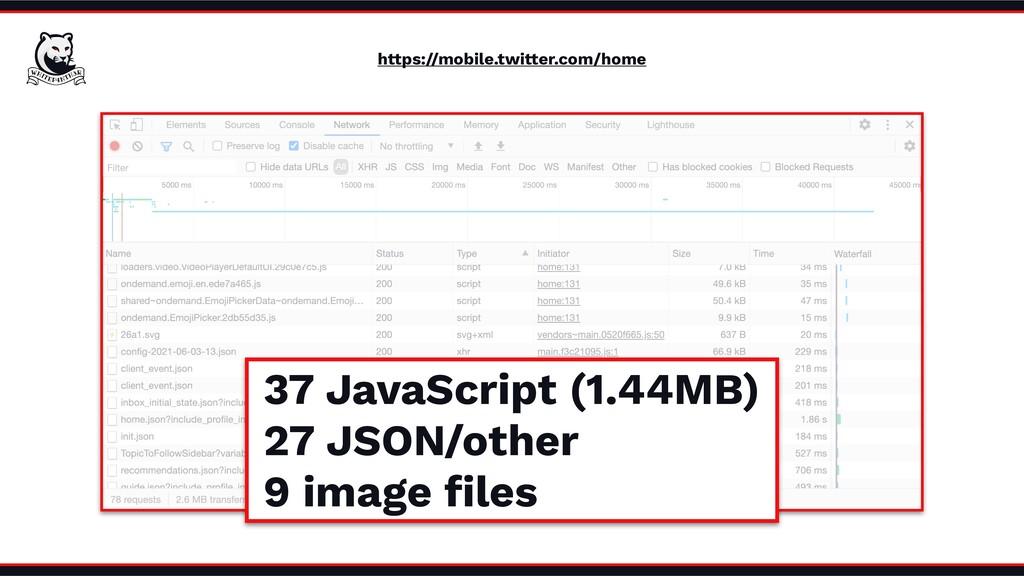 https://mobile.twitter.com/home 37 JavaScript (...