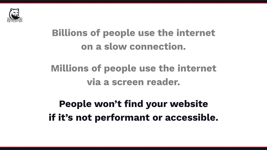 Millions of people use the internet via a scree...